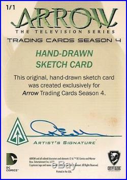 Arrow Season 4, Artist Sketch Card Nina Edlund 1/1