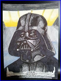 Artist Proof Sketch Card 2018 Topps Star Wars New Hope Black & White Kurt Ruskin