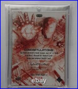 Artist sketch card 2013 UD Marvel Iron Man 3 Artist Sketch Card1of1
