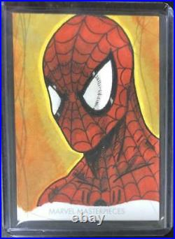 Artist sketch card Spider-man 2020 Upper Deck Marvel Masterpieces 1of1