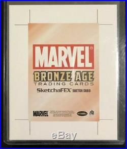 BLANK AP (Artist Proof) SKETCH CARD RARE! 2012 Marvel Bronze Age