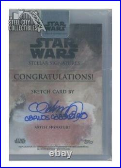Baze Malbus 2018 Topps Star Wars Stellar Signatures Artist Sketch Autograph Card