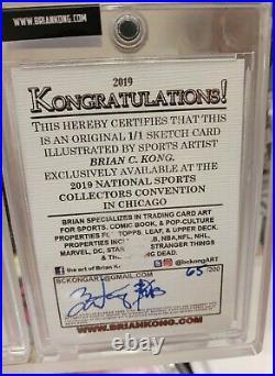 Bo Jackson 1/1 2019 National NSCC Topps artist Brian Kong Sketch card RC