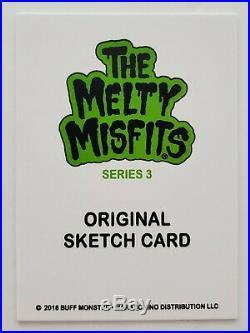 Buff Monster 1/1 Original Sketch Card From Melty Misfits Series 3 Street Artist