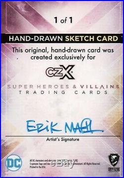 CZX DC Super Heroes & Villains, Eric Maell Artist Sketch Card 1/1