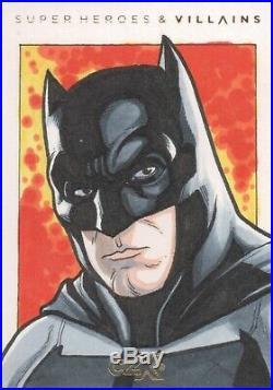 CZX DC Super Heroes & Villains, Nathan Nelson Artist Sketch Card 1/1