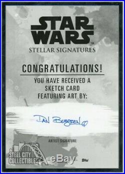 Cassian Andor 2019 Topps Star Wars Stellar Signatures Artist Sketch Card 1/1