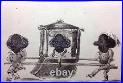 Centuries Old Sketch Drawn Transformation Antique Playing Card Artist Old Single