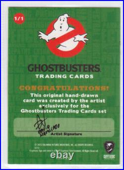 Cryptozoic Ghostbusters Sketch Card AUTO David Namisato (Artist) NMMT #1/1 (A)