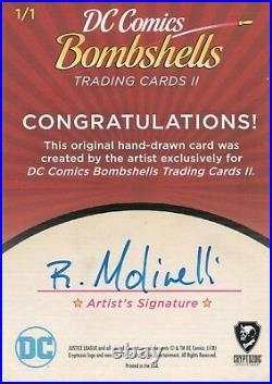 DC Comics Bombshells 2, Artist Sketch Card 1/1 Rich Molinelli