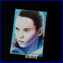 Daisy Ridley Rey Women of Star Wars Topps Official Sketch Card Artist Proof