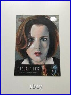 Dana scully X Files Upperdeck Artist Sketch Trading Card Gillian Anderson