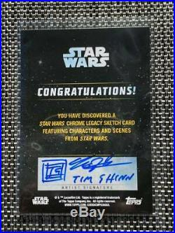 Darth Vader Star Wars Topps Chrome Legacy Sketch Card Artist Signature Tim Shinn