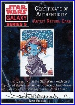Disney Star Wars Galaxy series 5 Artist Proof sketch card Aayla Nina Edlund