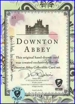 Downton Abbey sketch card by David Desbois. Artist Proof