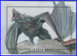 Drogon Dragon by Unknown Artist Sketch Card Game of Thrones Complete Series