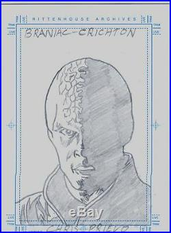 Farscape Season 3 Sketch Card By Kubert Artist Chris Prievo Brainiac Crichton