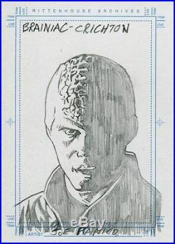 Farscape Season 3 Sketch Card By Kubert Artist Joe Panico Brainiac Crichton