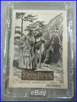 GANDALF Lord of the Rings Masterpieces II ARTIST SKETCH CARD 1/1 Propst Topps ZQ