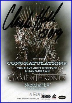 Game Of Thrones Season 8, Charles Hall Artist Sketch Card 1/1