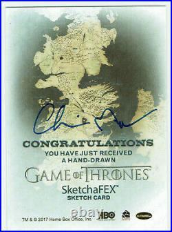 Game of Thrones Inflexions 1/1 SketchaFEX Artist Sketch Card Chris Meeks