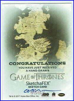 Game of Thrones Inflexions 1/1 SketchaFEX Artist Sketch Card Roy Cover