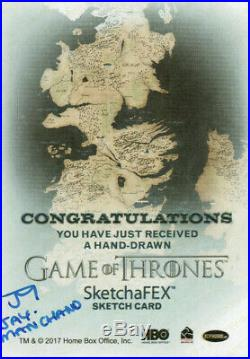 Game of Thrones Inflexions, Jay Manchand Artist Sketch Card 1/1