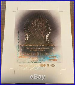 Game of Thrones Season 4 UNCUT ARTIST RETURN Sketch card David Desbois