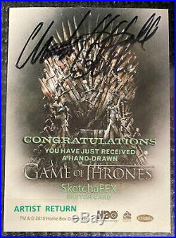 Game of Thrones Season 5 Artist Return Sketch card Sketchafex Charles Hall