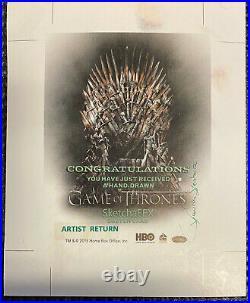 Game of Thrones Season 6 sketch card UNCUT ARTIST RETURN David Desbois Dorne