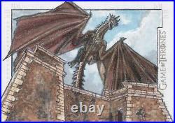 Game of Thrones Season 7, Adam Cleveland Dragon Artist Sketch Card 1/1