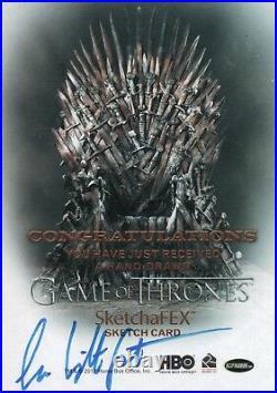 Game of Thrones Season 7, Lee Lightfoot Artist Sketch Card 1/1
