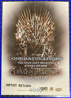 Game of Thrones Season 8 Sketch card sketchafex ARTIST RETURN David Desbois