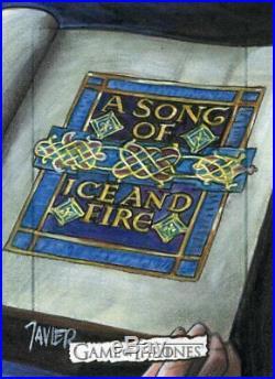 Game of Thrones Song of ICE & FIRE Season 8 Sketch Card JAVIER Artist Return