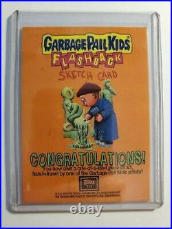Garbage Pail Kids Flashback Sketch Card By Artist Jay Lynch 2010 1 of 1 RARE