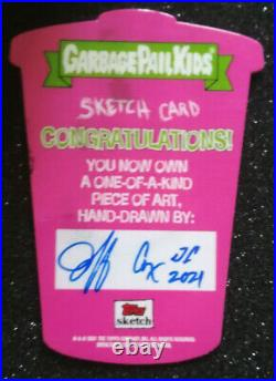 Garbage Pail Kids Food Fight Shaped Sketch Card Baba Duke Jeff Cox Artist 1/1