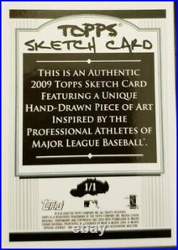 HIDEKI MATSUI 2009 Topps Authentic SKETCH Card SP #1/1 of 1 Artist AUTO Yankees