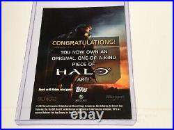 Halo Marvel Trading Card 2007 Topps Authentic Artist Sketch JKM RARE 1/1 Warthog