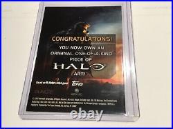 Halo XBOX Trading Card 2007 Topps Artist Sketch Jake Myler RARE 1/1 Master Chief