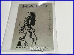 Halo XBOX Trading Card 2007 Topps Doug Cowan Artist Sketch RARE 1/1 Cortana