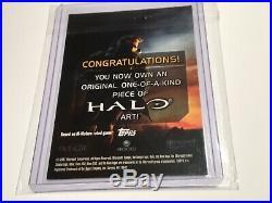 Halo XBOX Trading Card 2007 Topps Doug Cowan Artist Sketch RARE 1/1 Master Chief