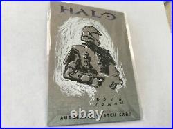 Halo XBOX Trading Card 2007 Topps Doug Cowan Artist Sketch RARE 1/1 Spartan