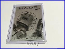 Halo XBOX Trading Card 2007 Topps Jake Myler Artist Sketch JKM RARE 1/1 Spartan