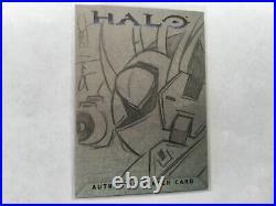 Halo XBOX Trading Card 2007 Topps Jason Hughes Artist Sketch 1/1 Hunter