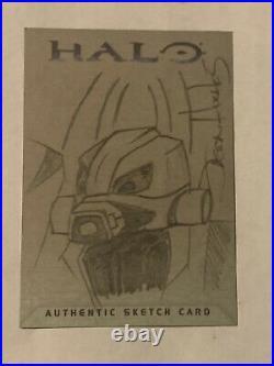 Halo XBOX Trading Card 2007 Topps Jason Hughes Rare Artist Sketch Grunt 1/1