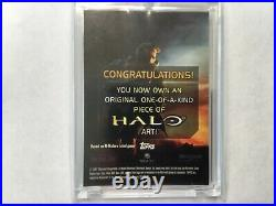 Halo XBOX Trading Card 2007 Topps John Watkins Chow artist Sketch 1/1 Tartarus