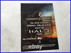 Halo XBOX Trading Card 2007 Topps Tom Hodges Sketch Artist 1/1 Cortana