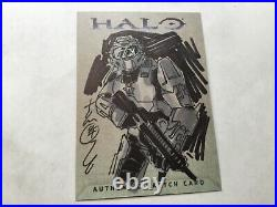 Halo XBOX Trading Card 2007 Topps Tom Hodges Sketch Artist 1/1 Master Chief