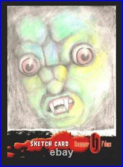 Hammer Horror Films Series 1 Sarah Lyons Artist Sketch Card 1/1 Strictly Ink