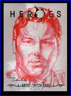 Heroes Volume 1 Mark McHaley Artist Sketch Card of Matt Parkman 1/1 Topps 2008